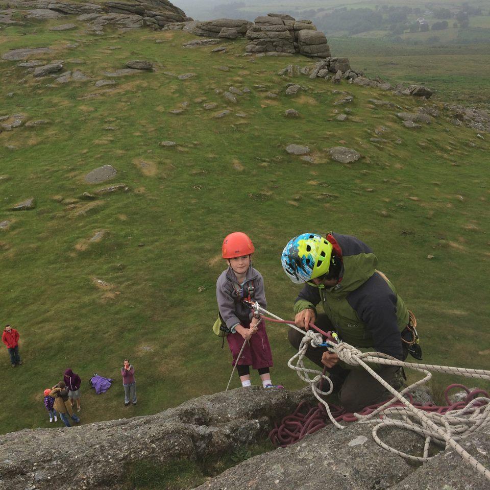 Rock climbing Devon image